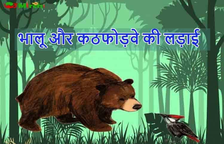 भालू और कठफोड़वे की लड़ाई