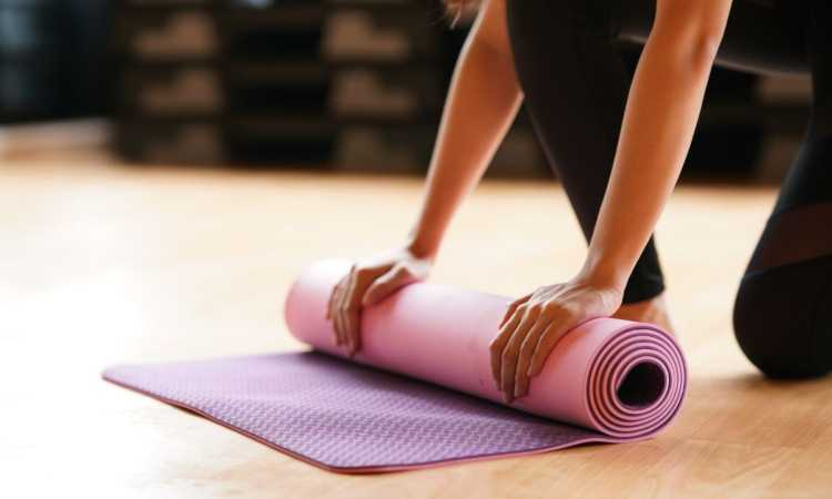 Easy hacks to stop slipping on a yoga mat