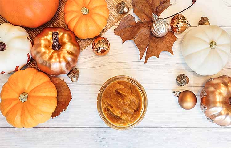 Pumpkin mask for skin and hair