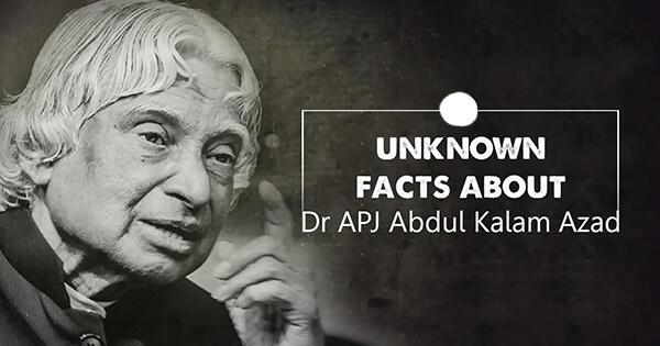 Facts on Abdul Kalam, डॉ. एपीजे अब्दुल कलाम के बारे में  रोचक तथ्य
