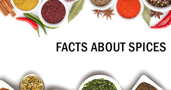 Facts on Spices, मसालों पर तथ्य