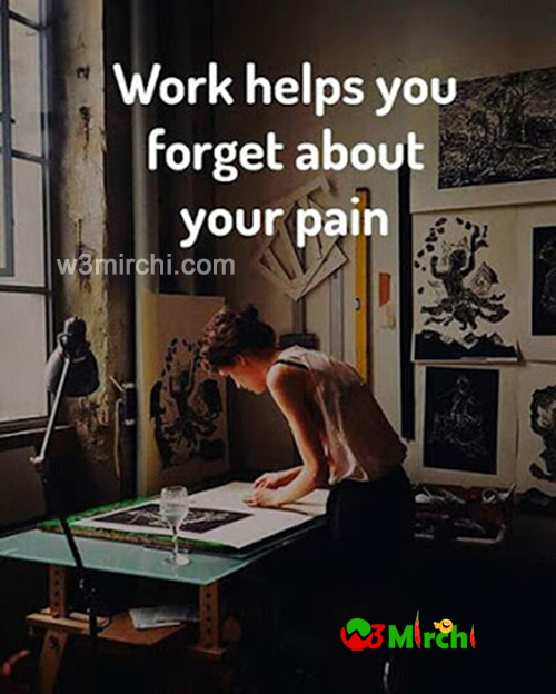 Work helps you forget about pain image