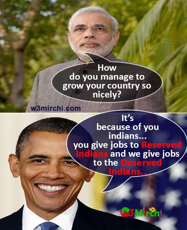 Modi- Obama Conversation for reservevation