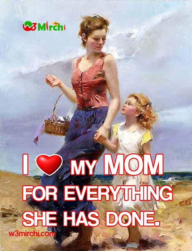 I Love my MOM image