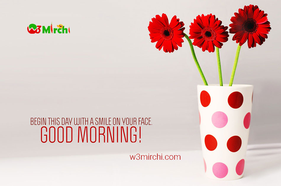 Smile on face good morning image
