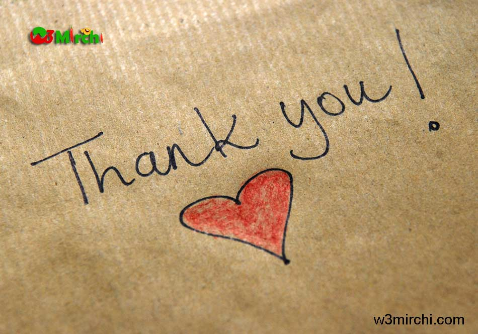 Thank you image with love