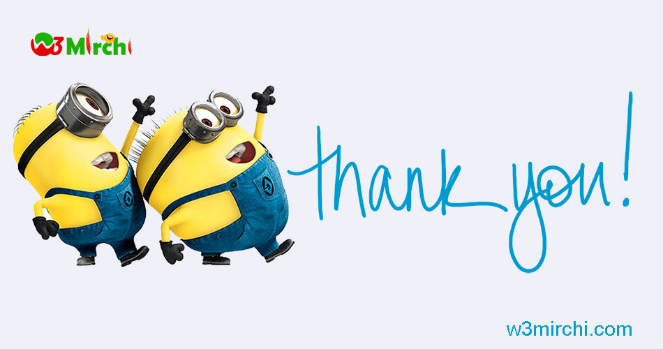Funny Thank you image with minions
