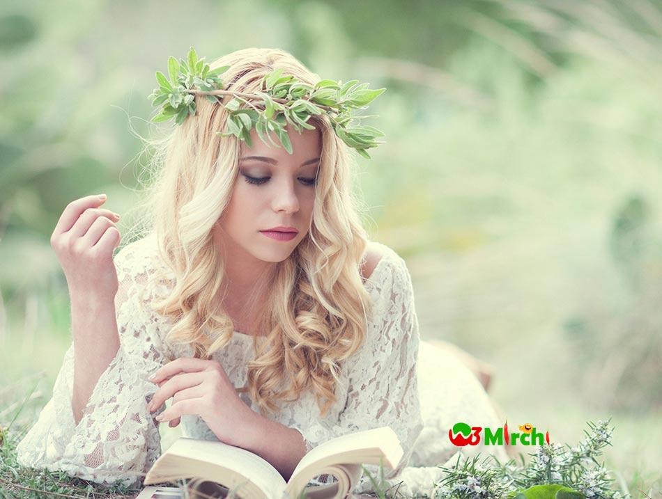Cute beautiful girl picture in grass