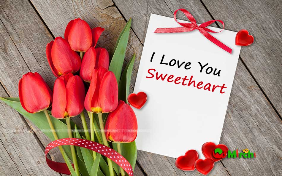 I Love Sweetheart Image with Flowers