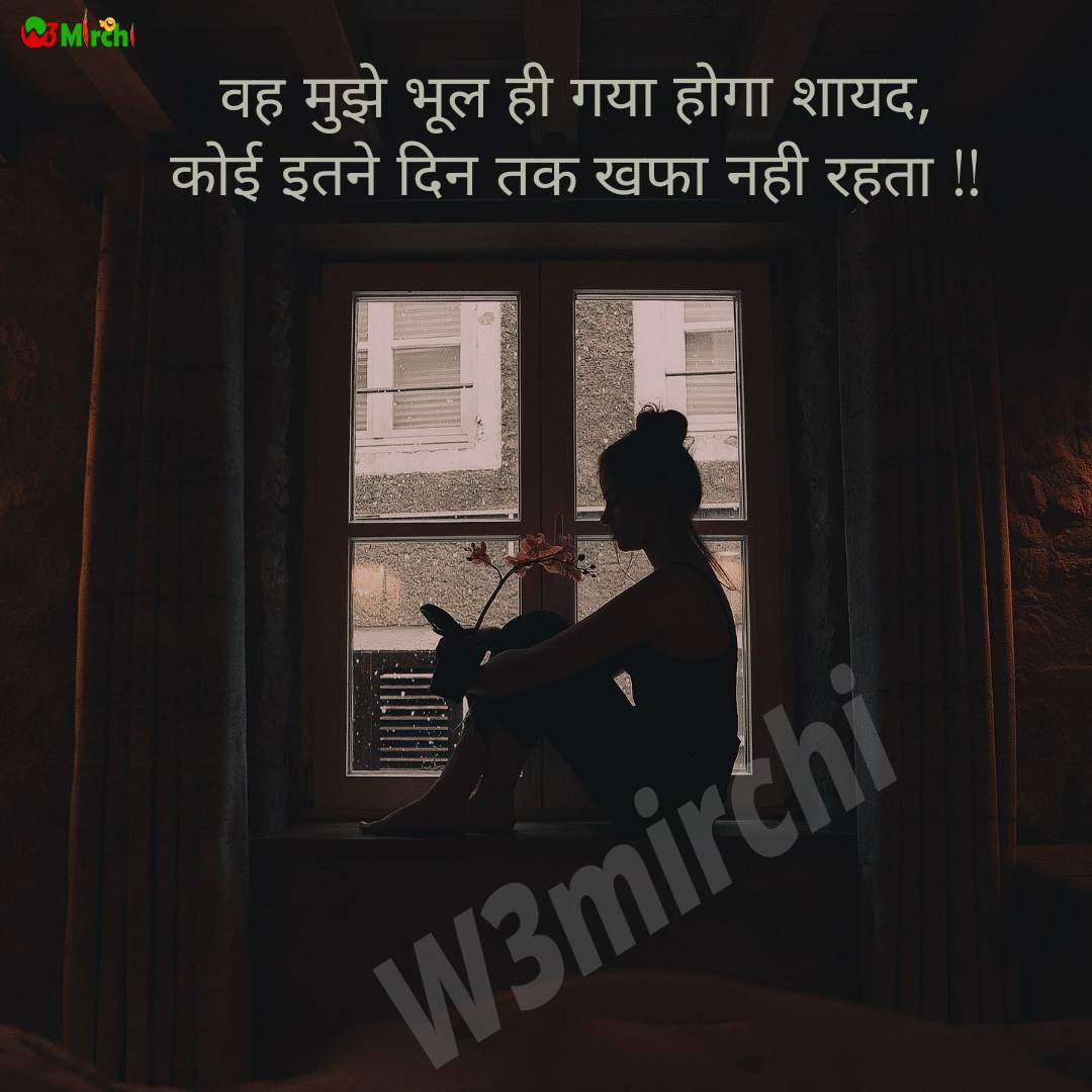 Sad Shayari  वह मुझे भूल ही गया होगा शायद,