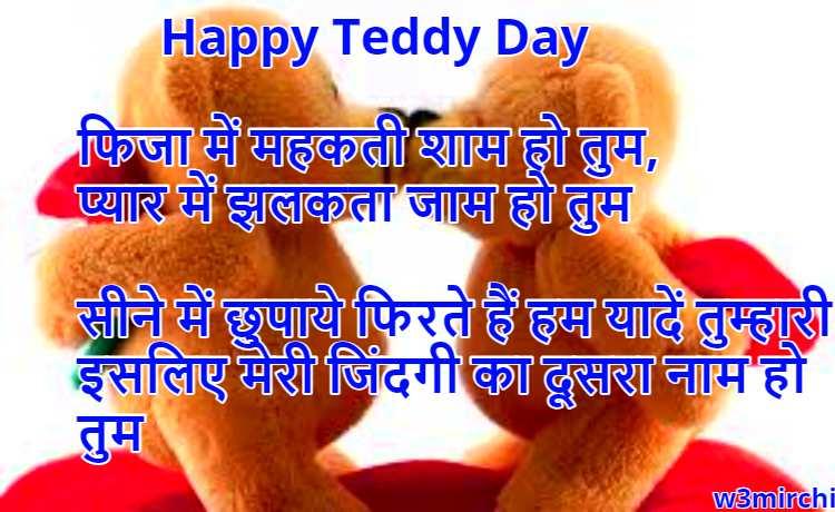 इसलिए मेरी जिंदगी का दूसरा नाम हो तुम Happy Teddy Day Shayari