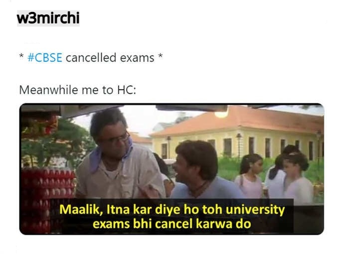 CBSE cancelled exams  Meanwhile me to HC:
