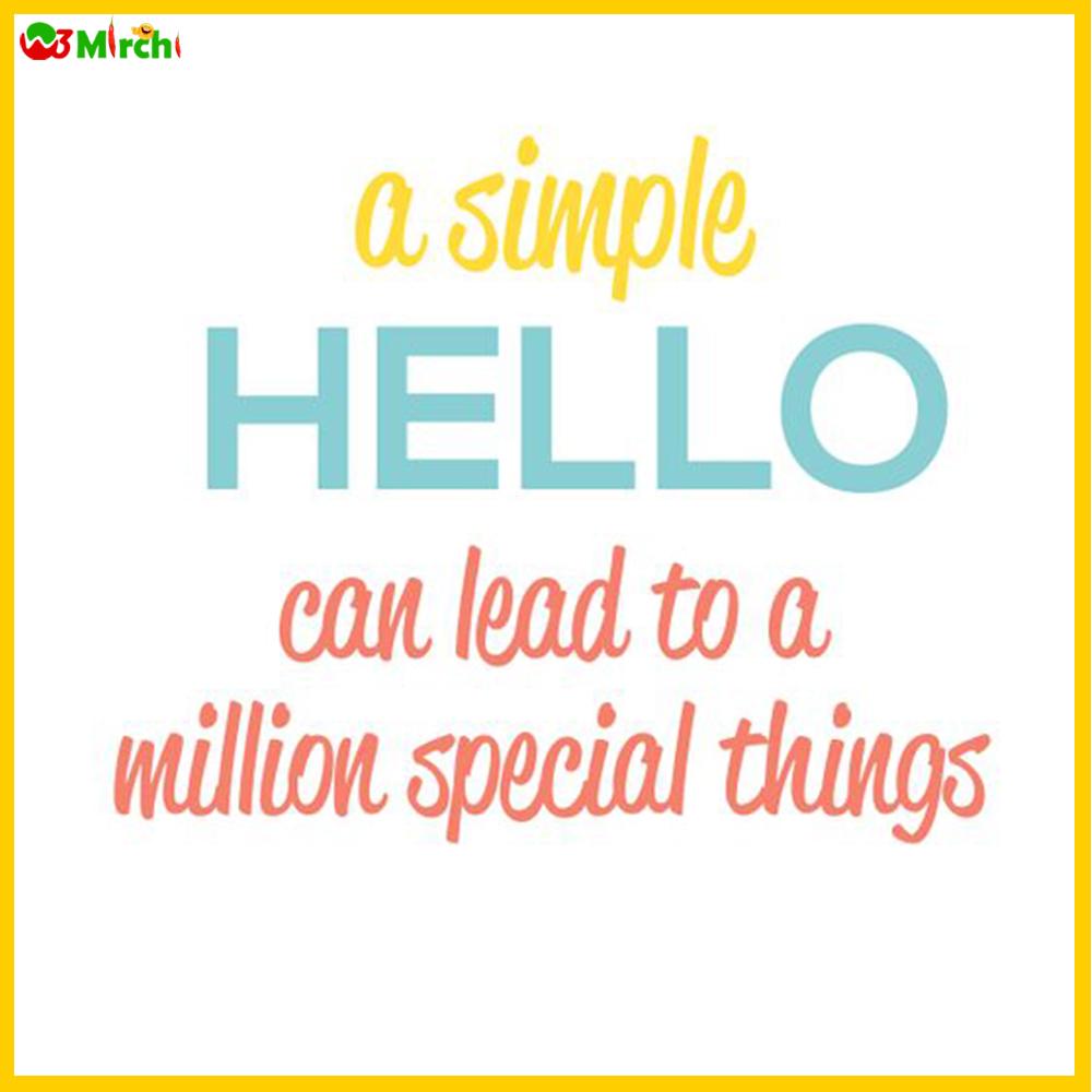 Hello Quotes