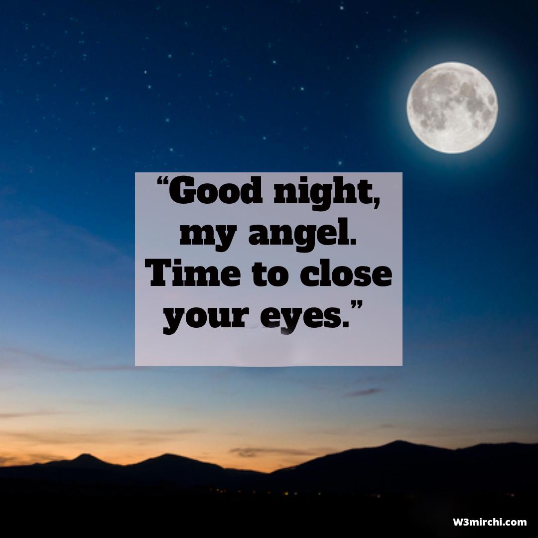 Good night, my angel