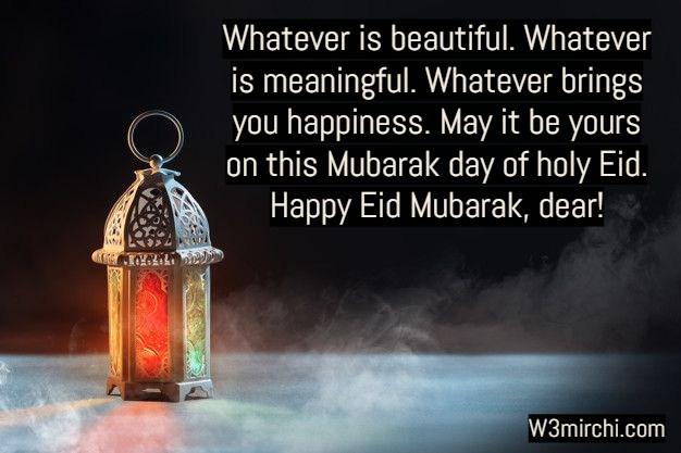 Happy Eid Mubarak, dear