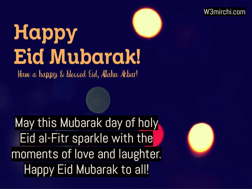 Happy Eid Mubarak to all!