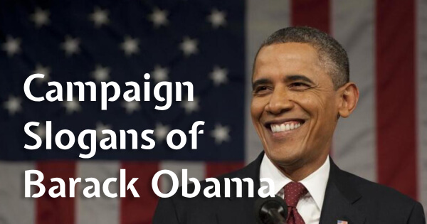 Campaign Slogans of Barack Obama in the USA