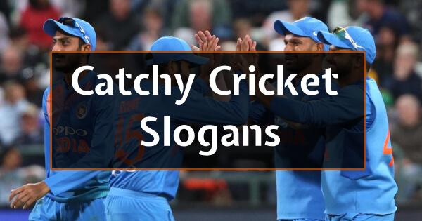 Catchy Cricket Slogans