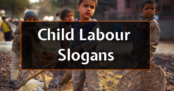Child Labour Slogans For Students And Children