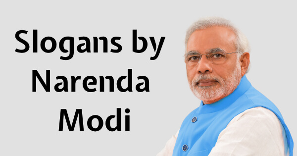 Slogans by PM Modi
