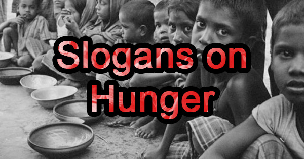Slogans on hunger